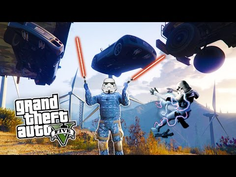 GTA 5 PC Mods - STAR WARS FORCE POWERS MOD! GTA 5  Inner Force Mod Gameplay! (GTA 5 Mods Gameplay)