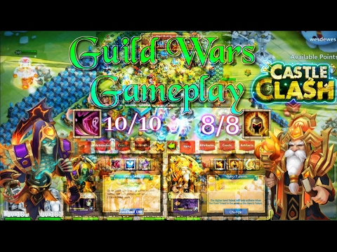 Castle Clash Grizzly Reaper 10/10 Skill Guild War Gameplay