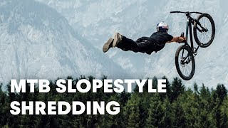 MTB Slopestyle shredding. | Crankworx FMBA Slopestyle Innsbruck 2018