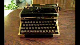 Gold-Plated Royal Quiet Deluxe Typewriter