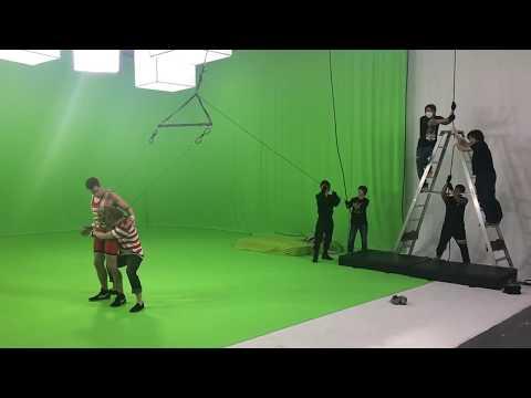 Justin Leeper Wire-Work Stunts: Waistlock Suplex for Commercial