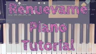 Renuevame Piano Tutorial (with Chords/con Acordes) for beginners