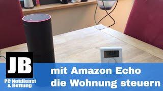 innogy-smarthome (RWE Smarthome) mit Amazon Echo (Alexa) verbinden. Licht, Heizung & Rollos steuern.