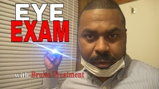 [ASMR] Eye EXAM Role Play DR JONES & Male Nurse BRUISE TREATMENT Light Tracking & Personal Attention