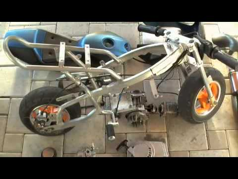 Pocket Bike Tuning Projekt 2009 Big Bore 3 Snake Pipe Usw