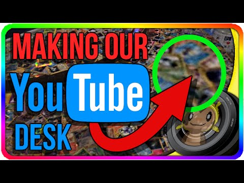 Making Our YOUTUBE DESK Out Of POKEMON CARDS! | Chipmunk Vlogs