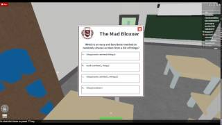 ROBLOX University Mad Bloxxer 3 Answers