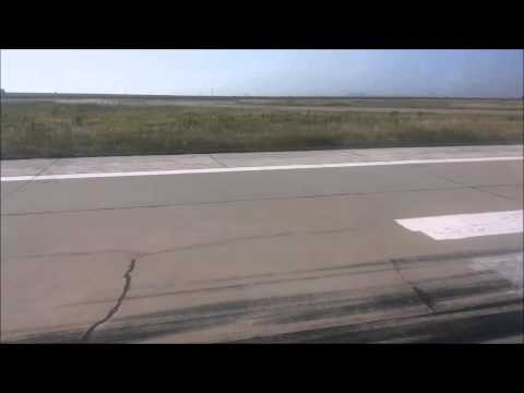 Landing at Burgas airport, Bulgaria