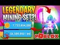 ROBLOX MINING SIMULATOR - NEW LEGENDARY MINING SET! *GET BILLIONS!*