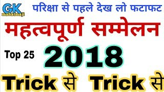Current affairs Trick | Important Summits of 2018 | Current for railway group D