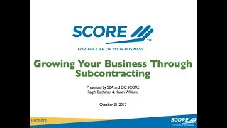 Growing Your Business Through Subcontracting