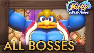 Kirby Star Allies - All Bosses (4 Players)