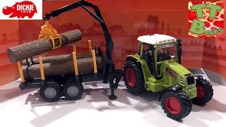 ? Dickie Toys. Трактор с Прицепом — распаковка от Игорька / Tractor with trailer / Unboxing Car ?