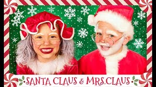 Santa Claus and Mrs. Claus Costumes and Makeup