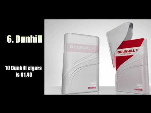 Top 10 Most Expensive Cigarette Brands in The World 2018