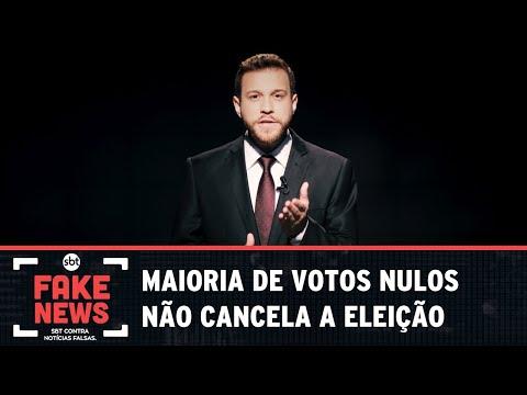 SBT Contra Notícias Falsas: Maioria de votos nulos não cancela a eleição