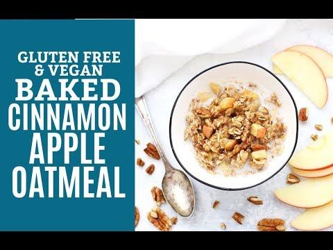 Apple Cinnamon Baked Oatmeal (Gluten Free & Vegan)
