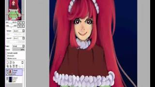Paint tool sai, Speed painting , Mdleine gift, Evelyn drawing process