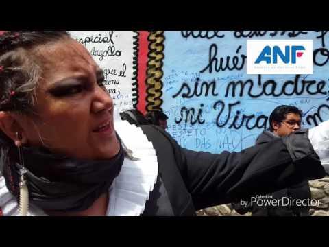 VIDEO: MARIA GALINDO DE MUJERES CREANDO EXPLICA EL MURAL EN LA FACHADA DEL MUSEO NACIONAL DE ARTE
