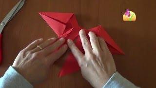 Realizzare un fiocco di carta [HD] - www.mammaebambini.it