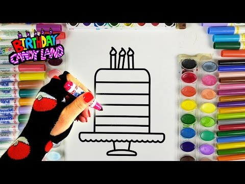Thumbnail: Learn Colors for Kids and Paint Color Birthday Cake Coloring Pages