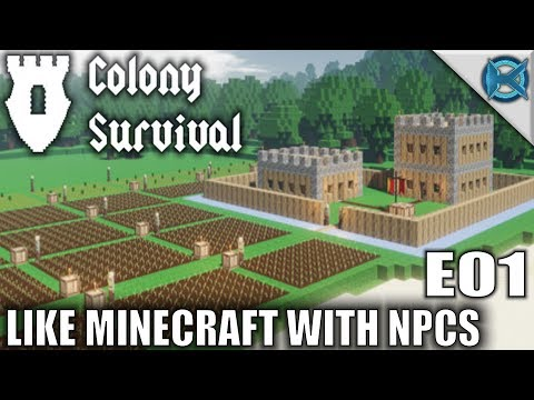Colony Survival | Like Minecraft With NPCS | Let's Play Colony Survival Gameplay | S01E01