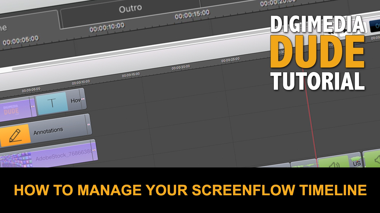 How To Manage Your ScreenFlow Timeline - YouTube