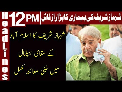 Shehbaz goes through medical inspection in Islamabad | Headlines 12 PM | 25 November 2018 | Express