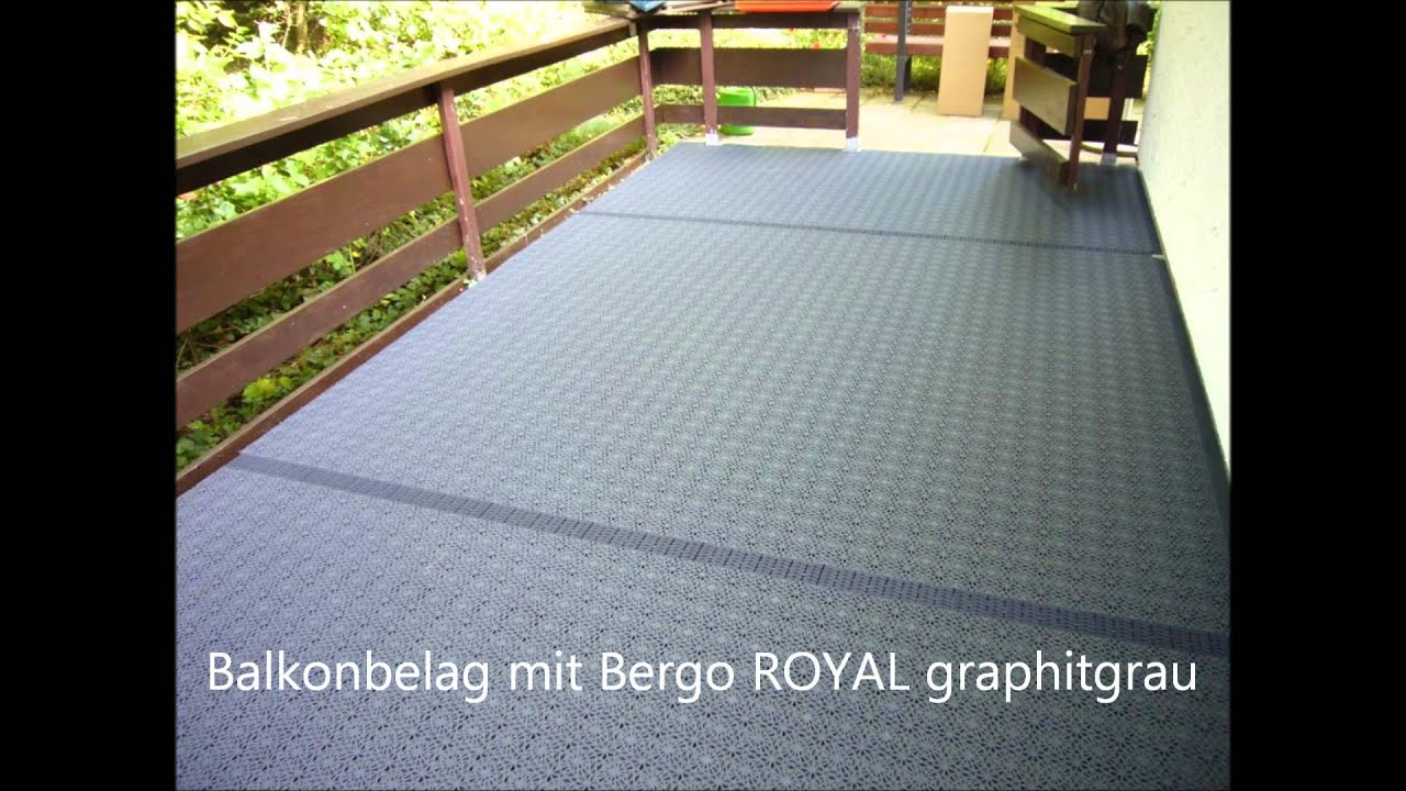 balkonbelag in steffeln mit bergo royal in youtube. Black Bedroom Furniture Sets. Home Design Ideas