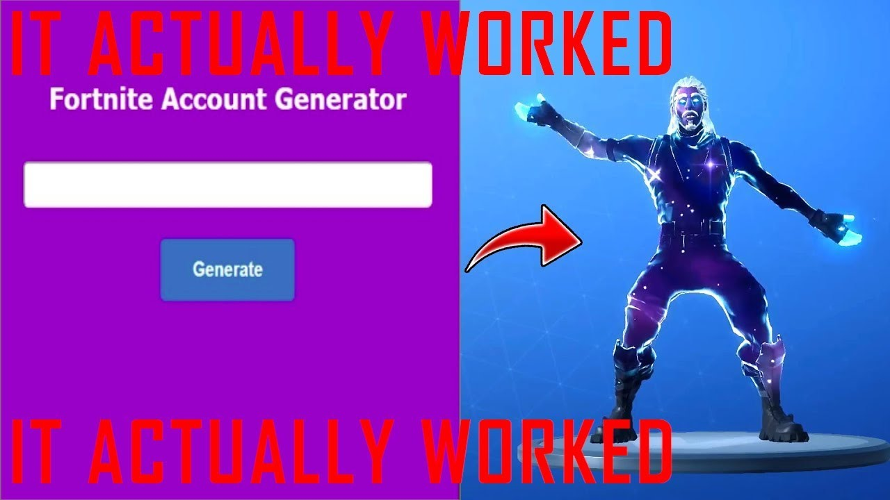I Used A Rare Fortnite Account Generator And It Actually Worked