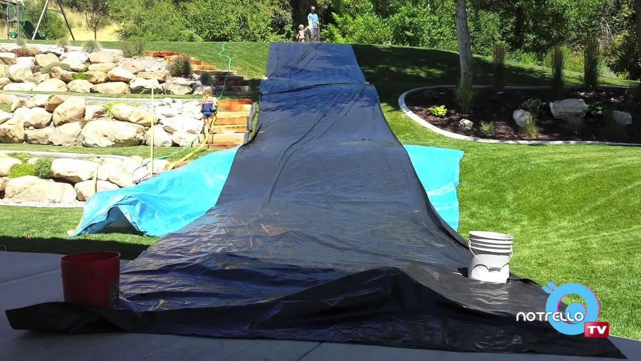How to Make a Backyard Slip 'n Slide - YouTube