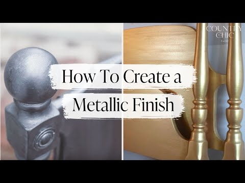 How To Create A Metallic Finish On Furniture Faux Country Chic Paint