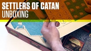 Settlers of Catan Unboxing - 4th Edition - Board Game Unboxing