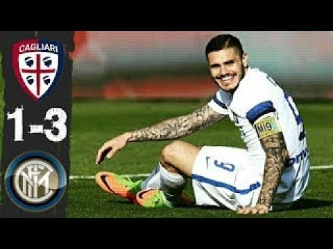 Cagliari vs Inter Milan 1 3 All Goals and Highlights Serie-A Italy 26-11-2017