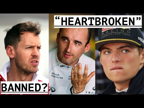 """Vettel Could Be Banned - Verstappen """"Heartbroken"""" by Ricciardo - Kubica Not In The Mix For 2018"""