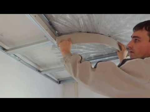 Самоучитель по монтажу. Потолок из гипсокартона с подсветкой и светильниками -Урок 8