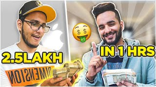 Giving @Triggered Insaan  RS 2,50,000 to spend in 1 HOUR challenge !!