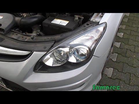 Hyundai i30 Замена ламп ближнего света и габаритных огней