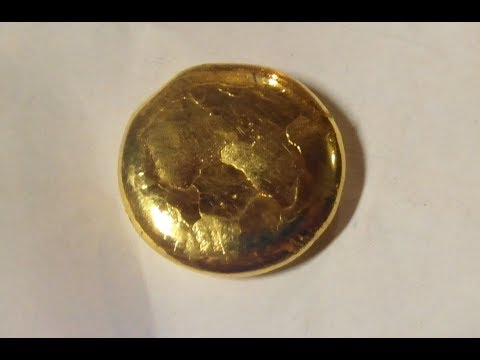 Refining GOLD to 24K - inquarting &  reduction with oxalic acid - full process