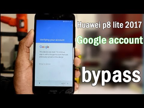 Huawei p8 lite 2017 google account bypass