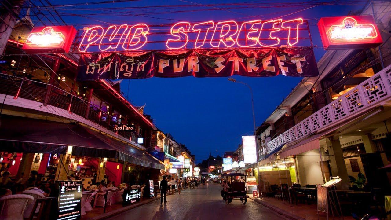 sunitjo travel พาเดินเที่ยว Pub Street เสียมเรียบ Cambodia อะไรจะปานนั้น -  YouTube
