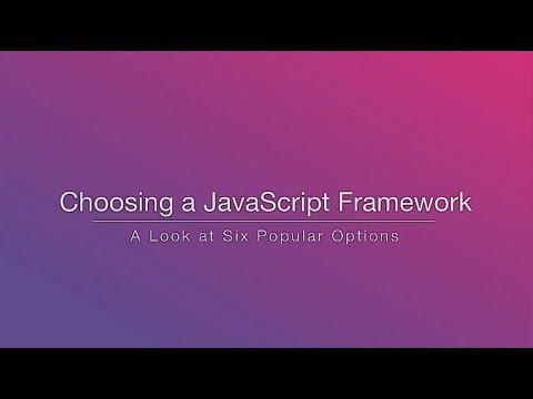 Choosing a JavaScript Framework - Rob Eisenberg