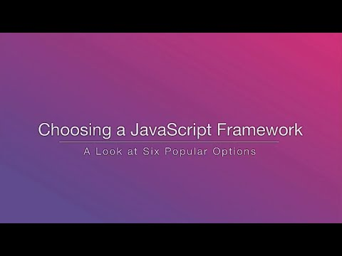 Choosing a JavaScript Framework - Rob Eisenberg