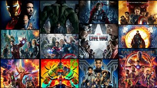 EVERY MARVEL CINEMATIC UNIVERSE MOVIE POSTERS | 2008 - 2018