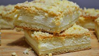 Творожный пирог (торт) с песочной крошкой в духовке простой пошаговый видео рецепт