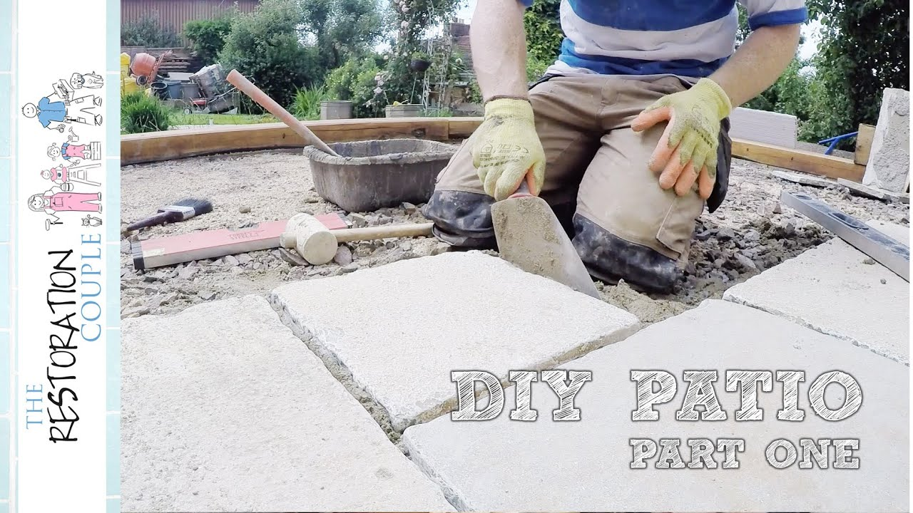 Laying a Natural Stone Patio - DIY - PART 1 - YouTube