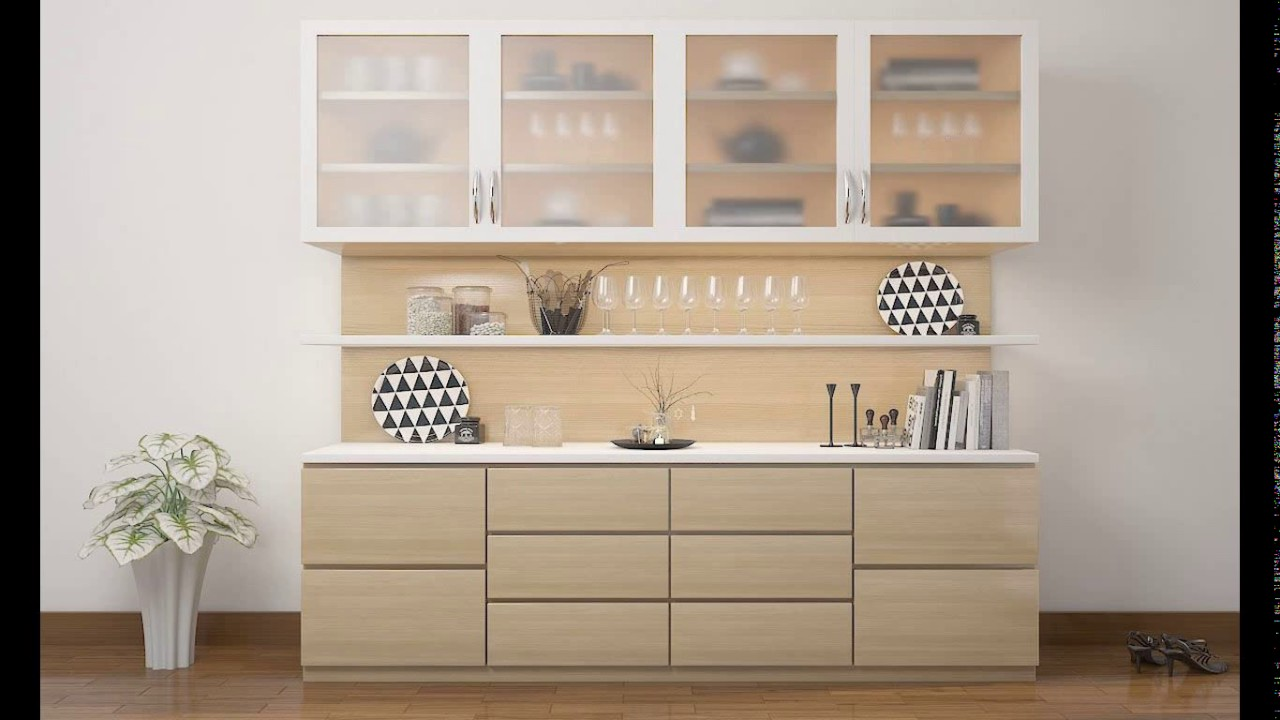 Kitchen crockery unit design pictures youtube for Unit kitchen designs