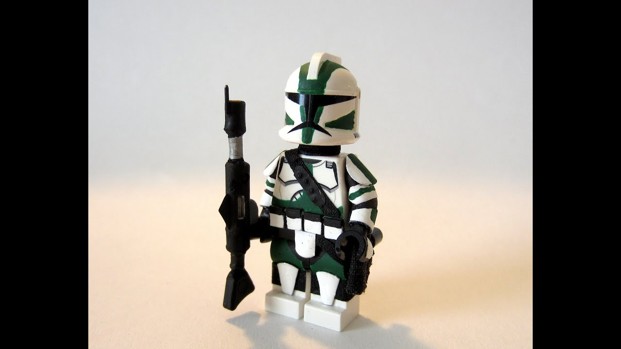 Custom LEGO Star Wars Clone Commander Gree minifigure (HD)