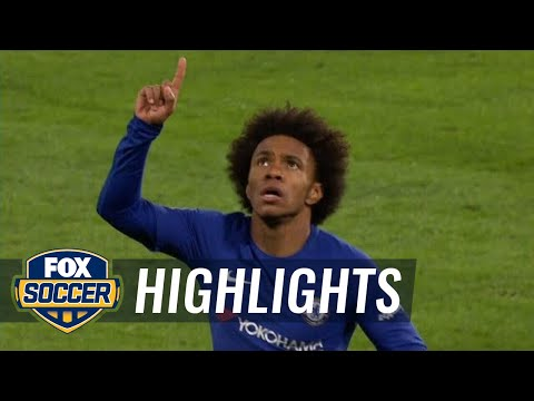 Willian curls in the opening goal for Chelsea vs. Hull City   2017-18 FA Cup Highlights
