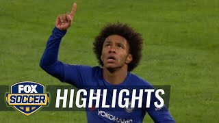 Willian curls in the opening goal for Chelsea vs. Hull City | 2017-18 FA Cup Highlights
